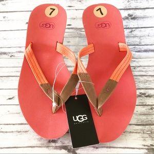 Ugg Wedge Sandals Flip Flops NWT Size 7